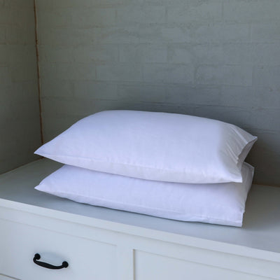 organic cotton soft white pillowcase set