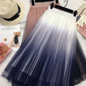 Multi-color knit casual gradient skirt RS002