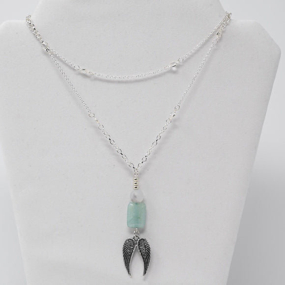 One of a Kind Wings of Solace Necklace