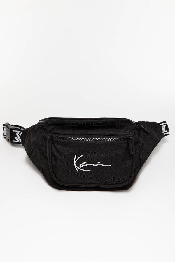 #00025  Karl Kani sáček KK Signature Tape Waist Bag 163 BLACK