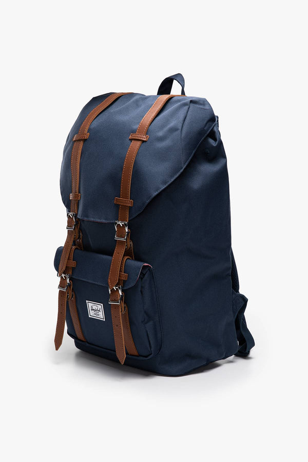 #00002  Herschel tašky a batohy, batoh PLECAK 25 L Little America  Synthetic Leather 10014-00007 Navy/Tan
