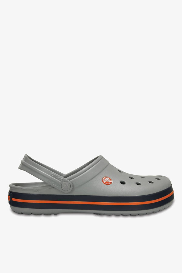 #00099  Crocs obuv, flip flopy Crocband Light Grey Navy 11016-01U
