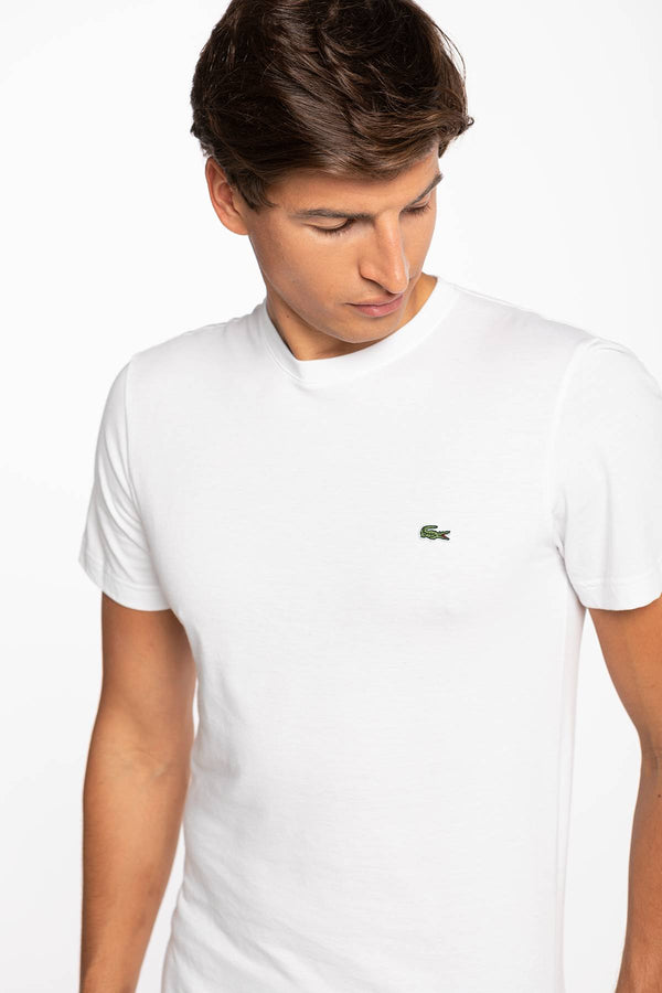 #00006  Lacoste tričko Men's tee-shirt TH2038-001 WHITE