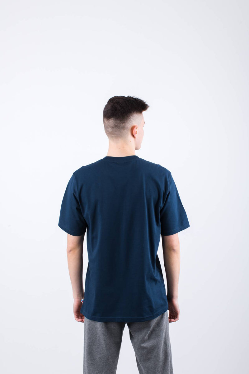 #00018  Russell Athletic tričko FLOCK TEE 190 NAVY