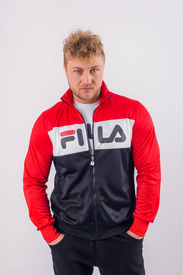 #00023  Fila oblečení, bunda MEN BALIN TRACK JACKET A089 TRUE RED/BLACK/BRIGHT WHITE