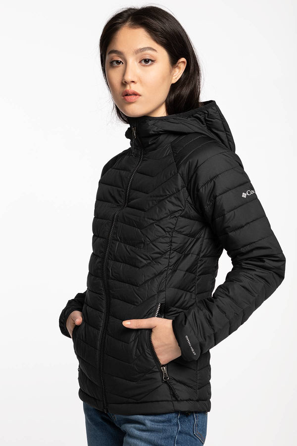 #00003  Columbia oblečení, bunda Powder Lite Hooded Jacket 1699071-011 BLACK