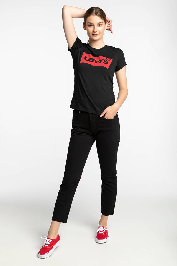 #00015  Levi's tričko THE PERFECT GRAPHIC TEE 0201 LARGE BATWING BLACK