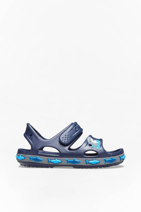 #00049  Crocs obuv FUN LAB SHARK BAND SANDAL 410 NAVY