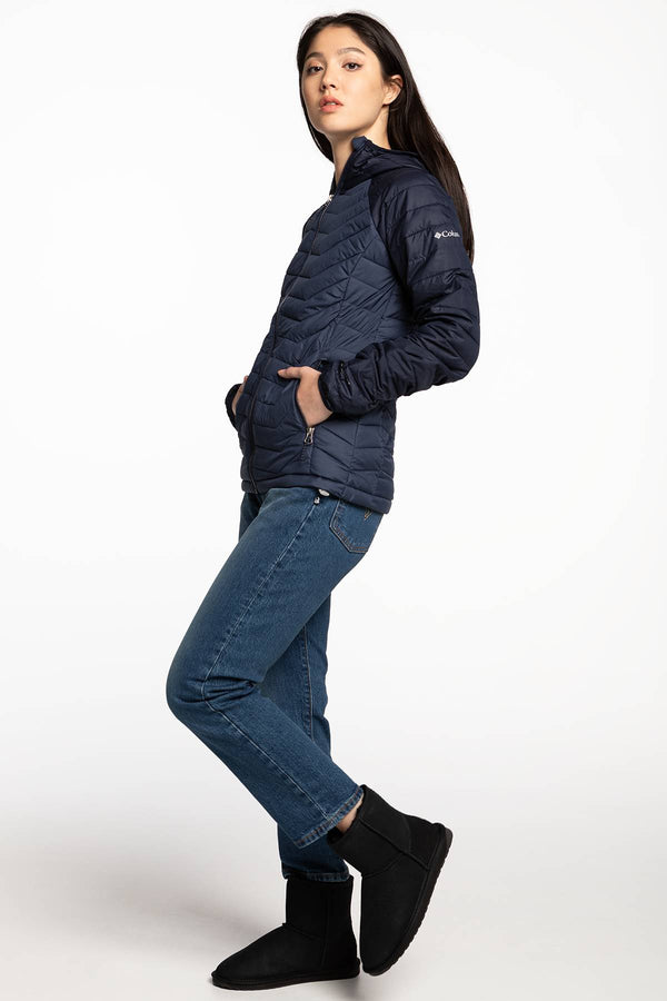 #00013  Columbia oblečení, bunda Powder Lite Hooded Jacket 1699071-470 NAVY