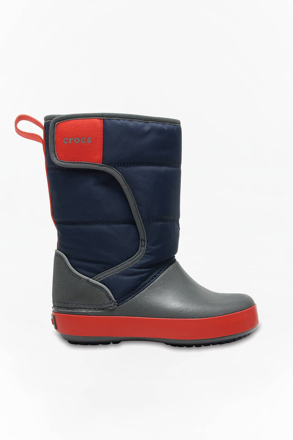 #00012  Crocs obuv, dětská obuv Kids Lodge Point Snow Boot Navy/Slate Grey
