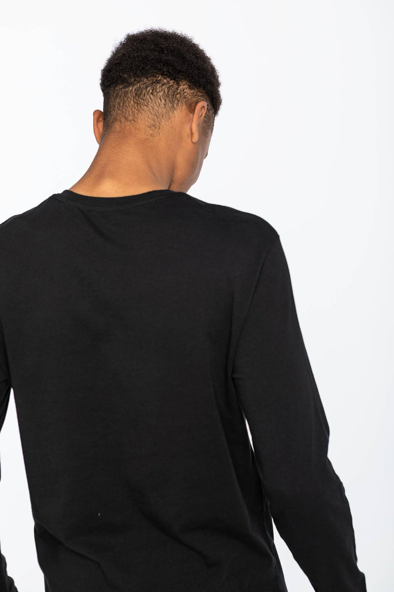 #00019  Levi's tričko LONG SLEEVE GRAPHIC TEE 0013 BETTER BLACK