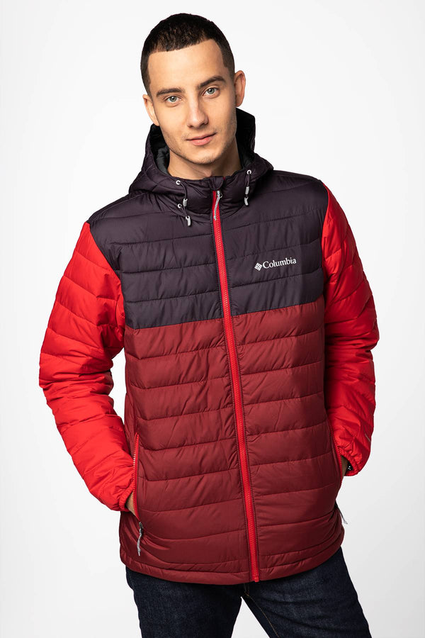 #00018  Columbia oblečení, bunda Powder Lite Hooded Jacket 1693931-666 RED/PURPLE