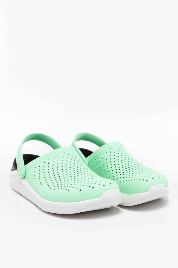 #00014  Crocs obuv, flip flopy LITERIDE CLOG 3TP NEO MINT/ALMOST WHITE