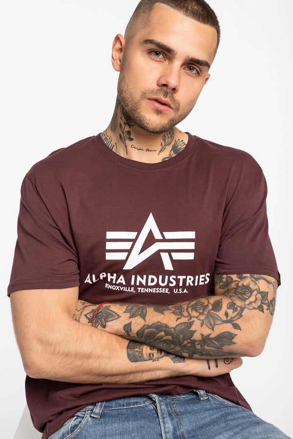 #00030  Alpha Industries tričko Basic T-Shirt 100501-21 DEEP MAROON