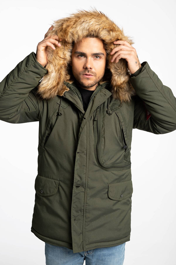 #00037  Alpha Industries oblečení, bunda Polar Jacket 123144-257 GREEN