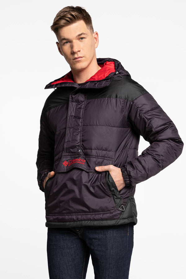 #00014  Columbia oblečení, bunda Lodge Pullover Jacket 1864422-511 BLACK/PURPLE/RED