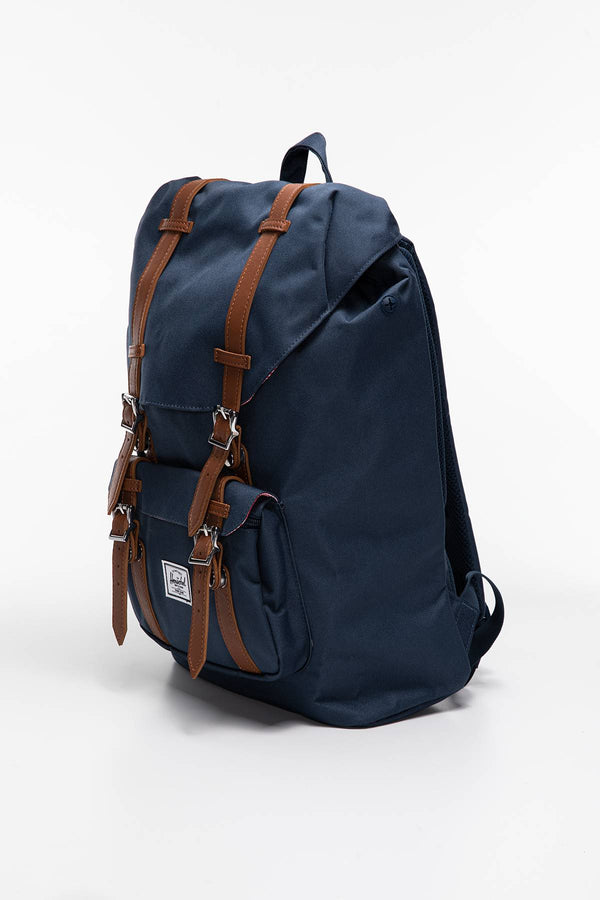 #00005  Herschel tašky a batohy, batoh PLECAK 17 L Little America Mid-Volume - Synthetic Leather 10020-00007 NAVY TAN