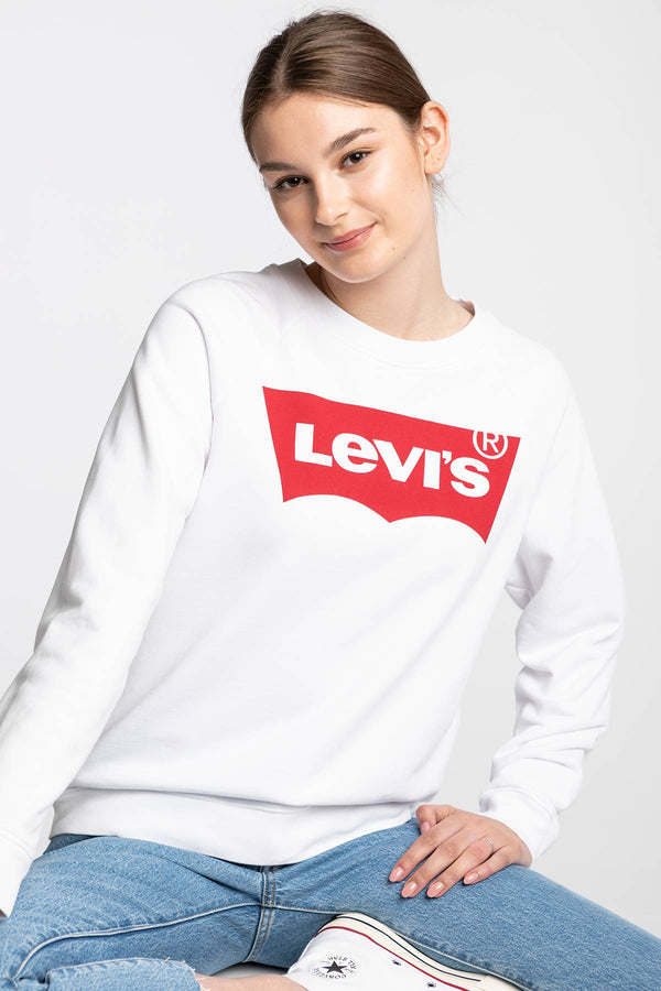 #00060  Levi's oblečení, mikina RELAXED GRAPHIC CREW 29717-0014 WHITE/RED