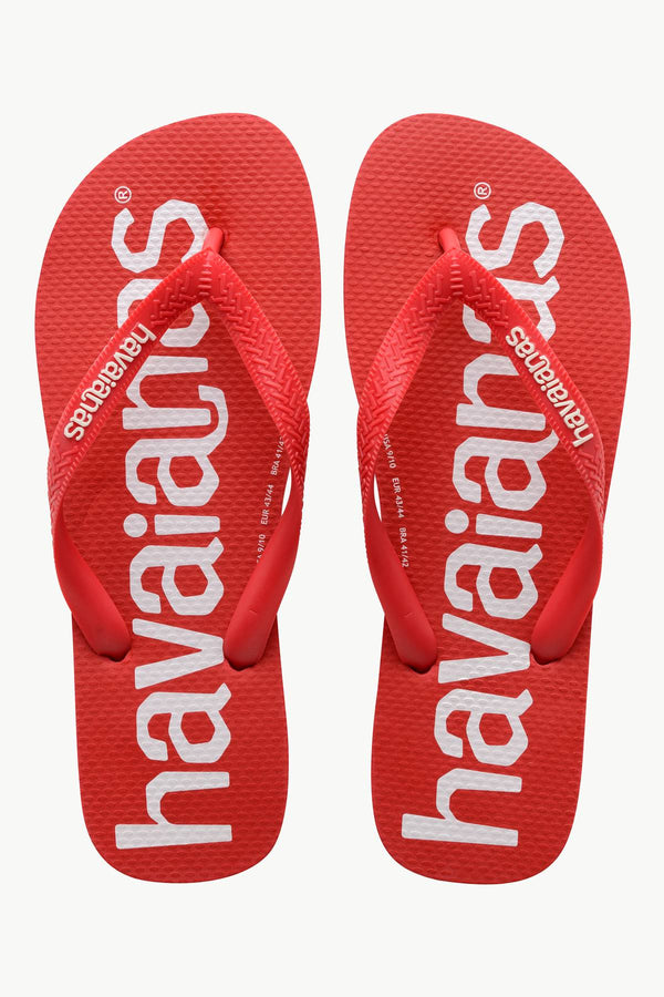 #00015  Havaianas obuv, flip-flopy TOP LOGOMANIA 2090P RUBY RED