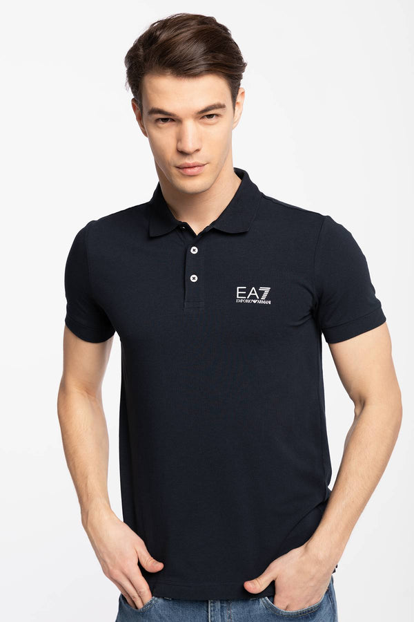 #00013  EA7 Emporio Armani tričko KOSZULKA POLO MAN JERSEY POLO SHIRT NIGHT BLUE 8NPF04PJM5Z-0578 NIGHT BLUE