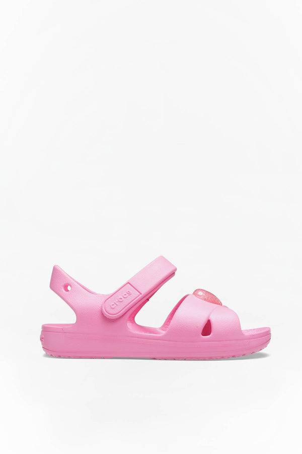 #00105  Crocs obuv CLASSIC CROSS STRAP SANDAL PS KIDS 206245 PINK LEMONADE PINK LEMONADE