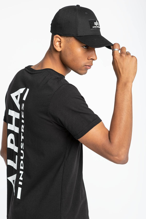 #00030  Alpha Industries tričko Backprint T 128507-03 BLACK