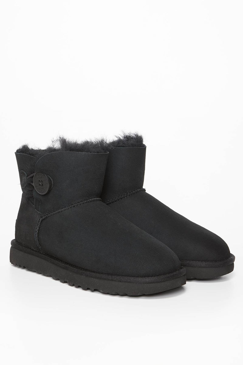 #00012  UGG obuv, sněhule MINI BAILEY BUTTON II BLACK