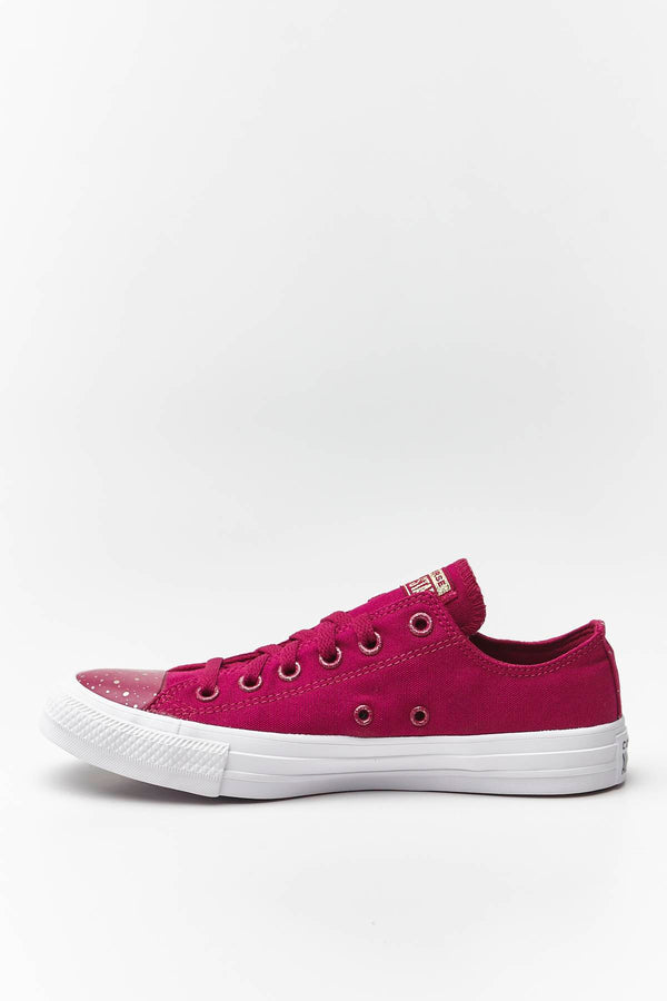 #00142  Converse obuv, tenisky CHUCK TAYLOR ALL STAR 227 ROSE MAROON/WHITE/LIGHT GOLD
