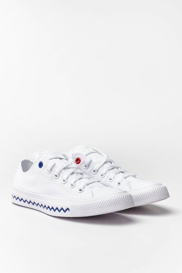 #00153  Converse obuv, tenisky CHUCK TAYLOR ALL STAR OX 733 WHITE/UNIVERSITY RED/RUSH BLUE