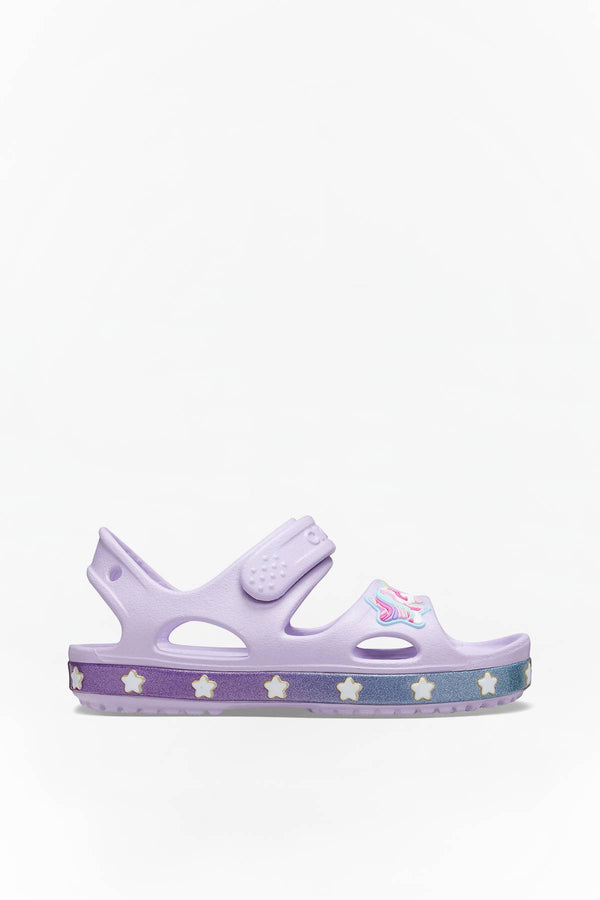#00049  Crocs obuv FUN LAB UNICORN CHARM SANDAL 530 LAVENDER