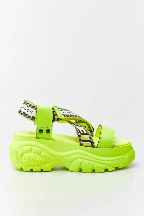 #00011  Buffalo obuv BO 039 NEON YELLOW