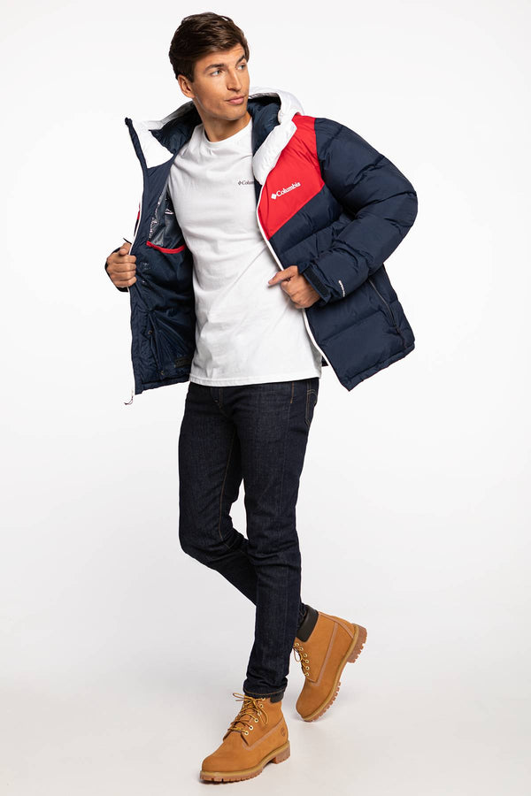 #00003  Columbia oblečení, bunda Iceline Ridge Jacket 1864272-466 NAVY/RED/WHITE