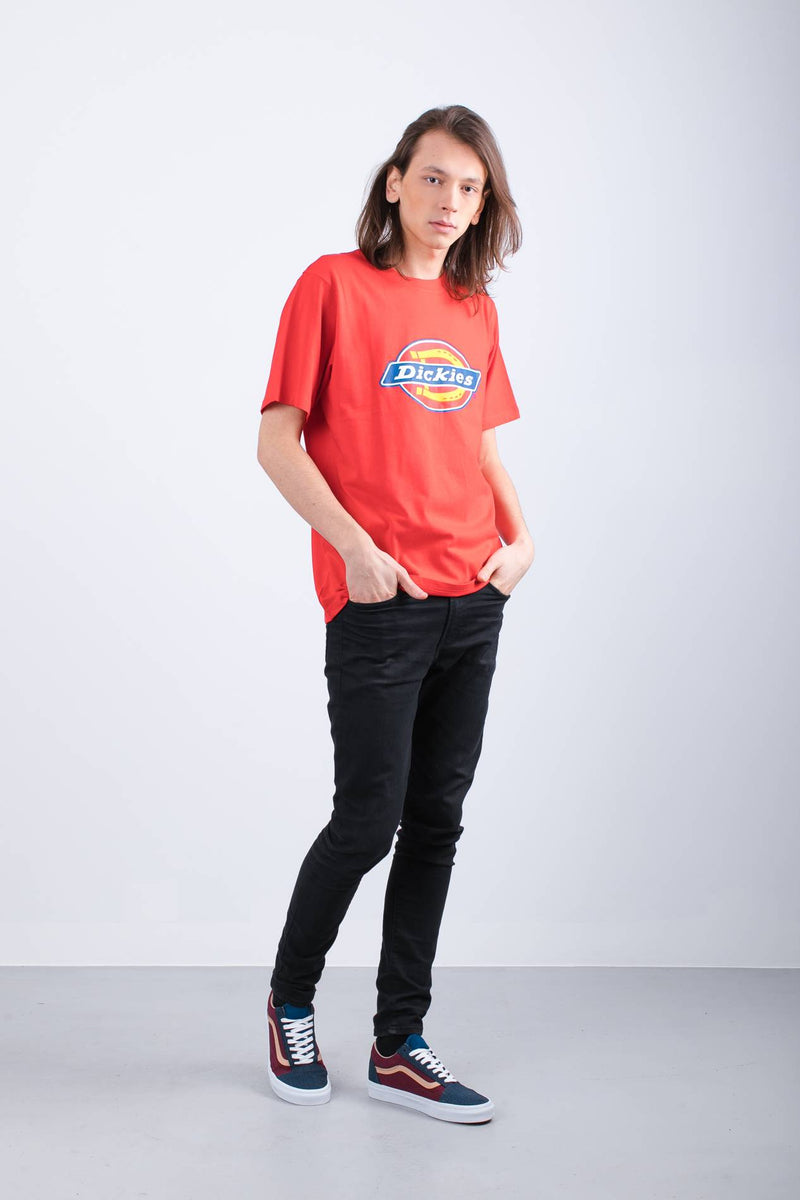 #00078  Dickies tričko HORSESHOE TEE MEN 0600075 FIERY RED