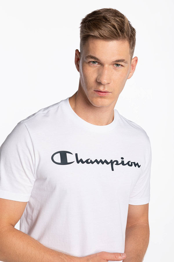 #00091  Champion tričko Crewneck T-Shirt 214747-WW001 WHITE