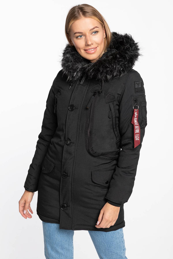 #00010  Alpha Industries oblečení, bunda Polar Jacket Wmn 123002-404 BLACK