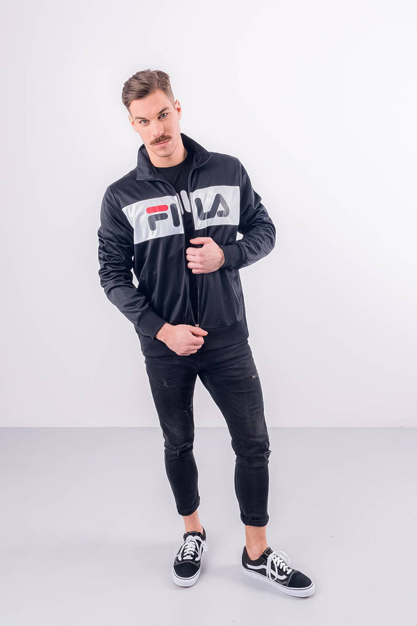 #00013  Fila oblečení, bunda MEN BALIN TRACK JACKET E09 BLACK/BRIGHT WHITE