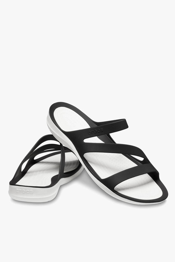 #00092  Crocs obuv SWIFTWATER SANDAL W 066 BLACK WHITE