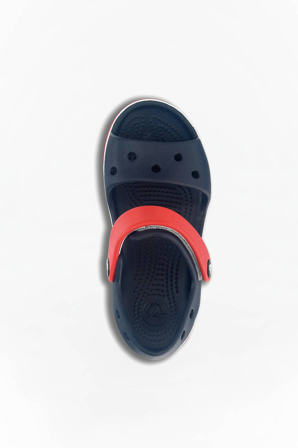 #00054  Crocs obuv CROCBAND SANDAL KIDS 485 NAVY/RED