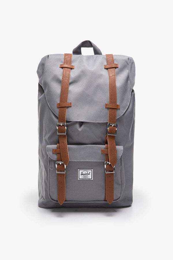 #00008  Herschel tašky a batohy, batoh Plecak 17 L Herschel Little America Mid-Volume  Synthetic Leather 10020-00006 GREY TAN