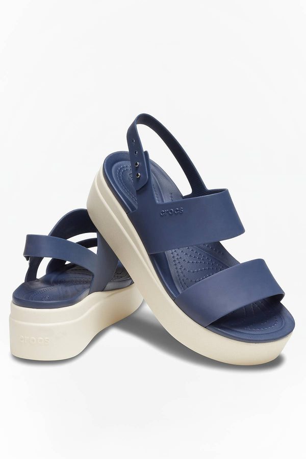 #00066  Crocs obuv BROOKLYN LOW WEDGE 453 NAVY/STUCCO