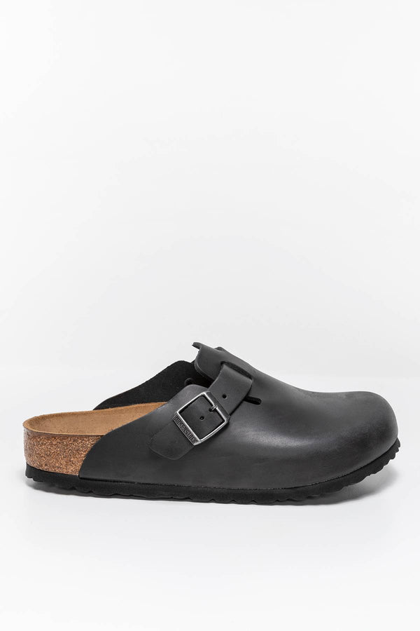 #00003  Birkenstock obuv, flip flopy Boston NU Oiled Black 59461 BLACK