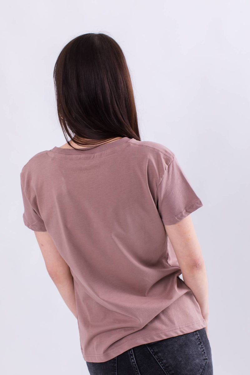 #00166  Alpha Industries tričko NEW BASIC T WMN 416 MAUVE