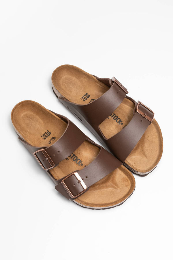 #00012  Birkenstock obuv, flip flopy Arizona BF Dark Brown 51701