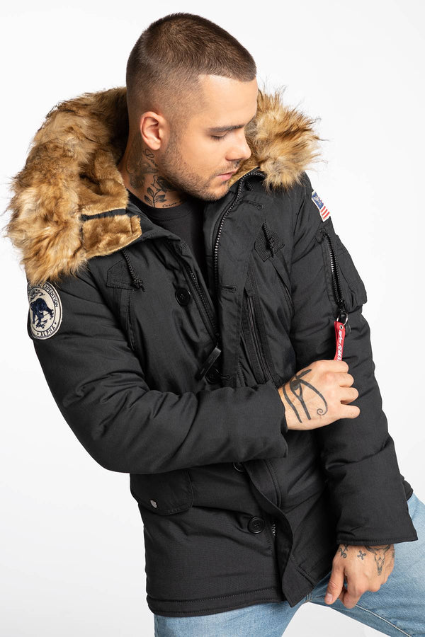 #00023  Alpha Industries oblečení, bunda Polar Jacket 123144-03 BLACK