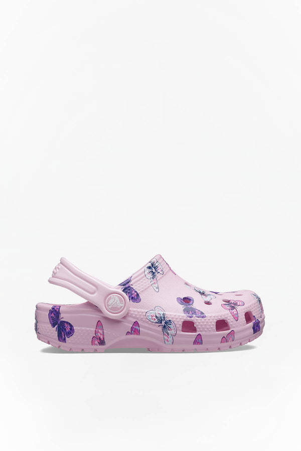 #00064  Crocs obuv, flip flopy Classic Butterfly Clog PS 206414-6GD Ballerina Pink