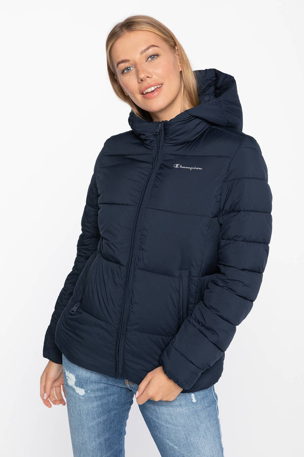 #00038  Champion oblečení, bunda Hooded Polyfilled Jacket 113424-BS501 NAVY