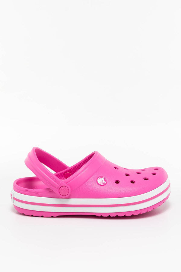 #00028  Crocs obuv, flip flopy CROCBAND 6QR ELECTRIC PINK/WHITE
