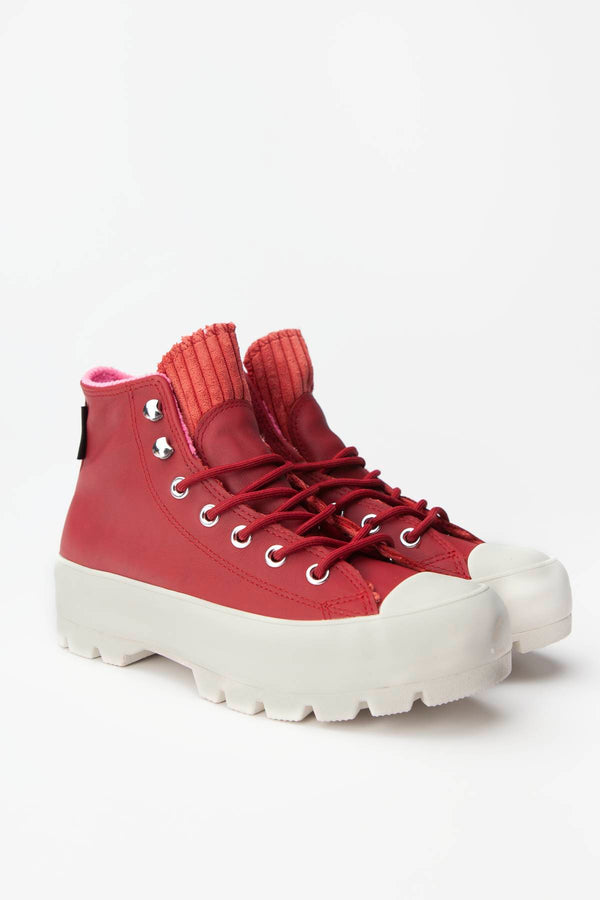 #00127  Converse obuv, tenisky CHUCK TAYLOR ALL STAR LUGGED WINTER HI 007 BACK ALLEY BRICK/HABANERO RED