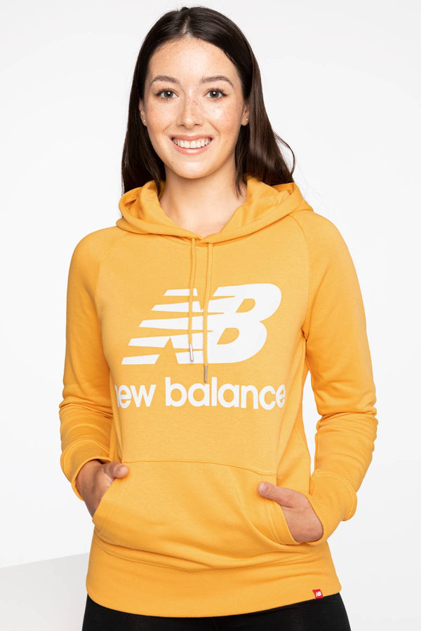 #00012  New Balance oblečení, mikina BLUZA ESSENTIALS PULLOVER HOODIE ASE 550 YELLOW