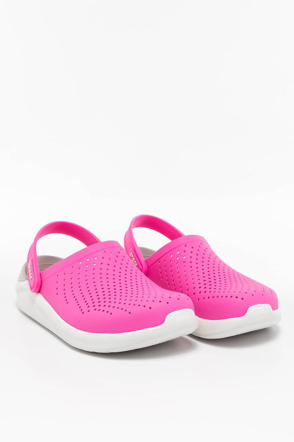 #00015  Crocs obuv, flip flopy LITERIDE CLOG 6QV ELECTRIC PINK/ALMOST WHITE